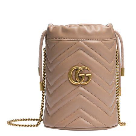 Miu Miu ® - Handtasche aus Leder in Altrosa/Rosa für Damen, Größe UNI braun