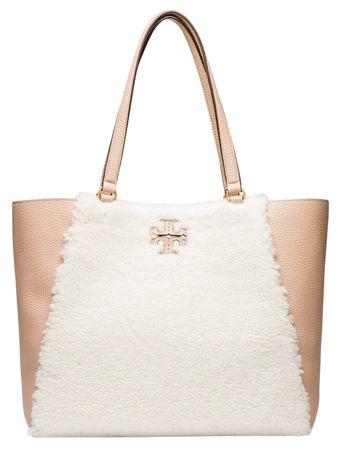 Tory Burch ® - Handtasche aus Leder in Nude/Beige/Weiß/Rosa für Damen, Größe UNI braun