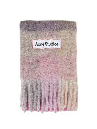 Acne Studios  - Woll-Mohair-Schal 'Vally' Multi/Rosé
