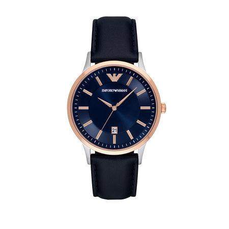 Emporio Armani  Uhr  -  Watch Dress AR11188 Silver/Roségold  - in roségold  -  Uhr für Damen schwarz