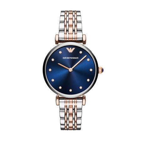 Emporio Armani  Uhr  -  AR11092 Dress Watch Silver/Roségold  - in silber  -  Uhr für Damen grau