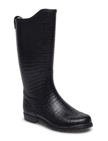 rosemunde Wellingtons Long Gummistiefel Schuhe Schwarz  schwarz
