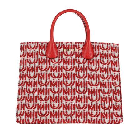 Miu Miu  Tote  -  Tote Jacquard Corda/Rosso  - in rot  -  Tote für Damen rot