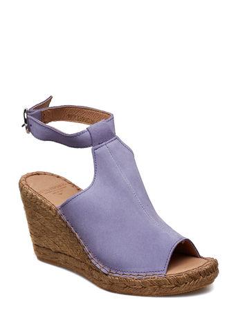 Royal RepubliQ Wayfarer High Wedge Sandale Mit Absatz Espadrilles Lila  blau