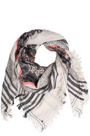 Rubicon  Bedrucktes Tuch aus Baumwolle und Seide Damen Farbe: gemustert verfügbare Größe: One Size braun