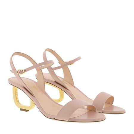 Rupert Sanderson  Sandalen  -  Silhouette Mid Heel Sandal Carnation Pink  - in rosa  -  Sandalen für Damen braun
