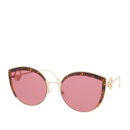 Fendi  Sonnenbrille  -  FF 0290/S Gold Copp  - in gold  -  Sonnenbrille für Damen rot