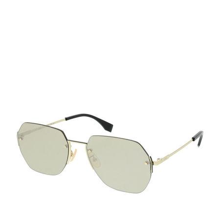 Fendi  Sonnenbrille  -  FF M0067/F/S Gold  - in gold  -  Sonnenbrille für Damen braun