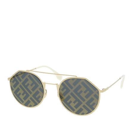 Fendi  Sonnenbrille  -  FF M0021/S Gold White  - in gold  -  Sonnenbrille für Damen grau