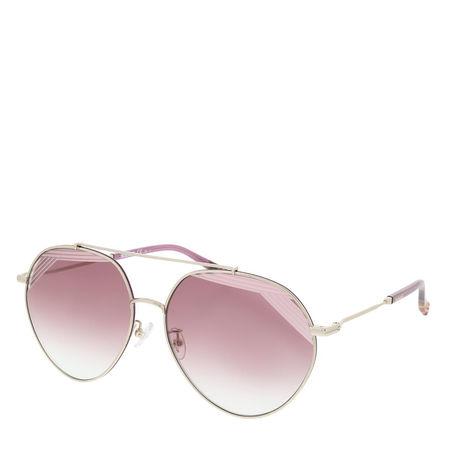 Missoni  Sonnenbrille  -  MIS 0015/S Lightgold Cherryred Blue  - in silber  -  Sonnenbrille für Damen braun