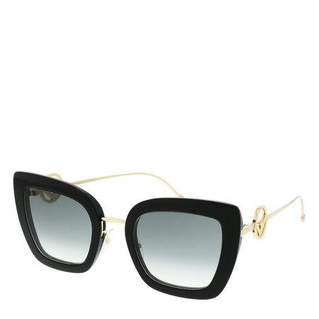 Fendi  Sonnenbrille  -  FF 0408/S Sunglasses Black  - in schwarz  -  Sonnenbrille für Damen schwarz