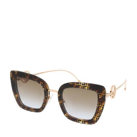 Fendi  Sonnenbrille  -  FF 0408/S Sunglasses Dark Havana  - in braun  -  Sonnenbrille für Damen braun