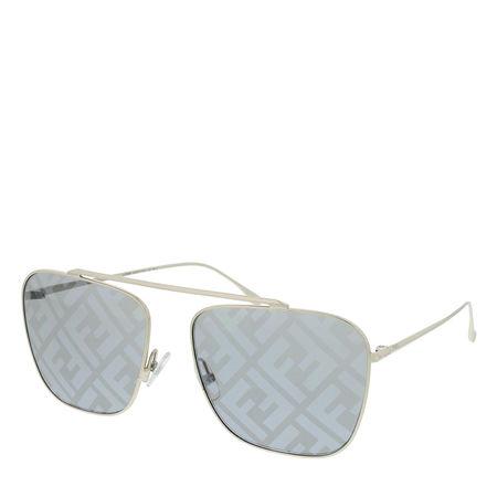 Fendi  Sonnenbrille  -  FF 0406/S Sunglasses Gold Grey  - in silber  -  Sonnenbrille für Damen braun