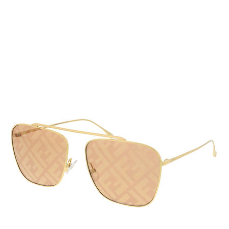Fendi  Sonnenbrille  -  FF 0406/S Sunglasses Gold  - in gold  -  Sonnenbrille für Damen orange