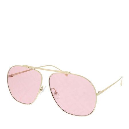 Fendi  Sonnenbrille  -  FF 0407/G/S Sunglasses Gold Pink  - in rosa  -  Sonnenbrille für Damen braun