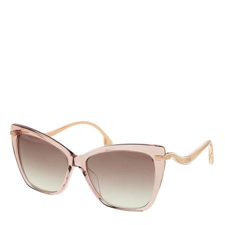 Jimmy Choo  Sonnenbrille  -  SELBY/G/S Sunglasses Nude  - in rosa  -  Sonnenbrille für Damen braun