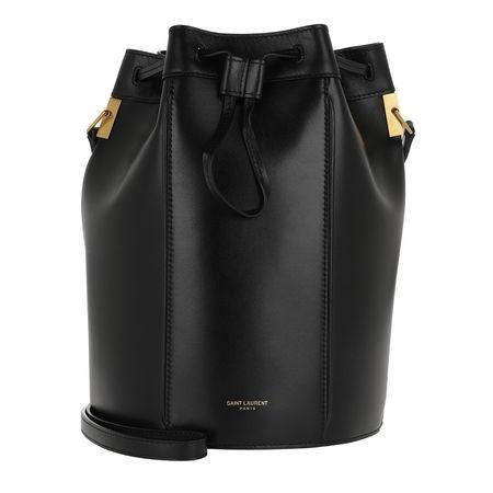 Saint Laurent Paris Saint Laurent Beuteltasche  -  Talitha Medium Bucket Bag Smooth Leather Black  - in schwarz  -  Beuteltasche für Damen schwarz