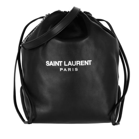 Saint Laurent Paris Saint Laurent Beuteltasche  -  Teddy Bucket Bag Leather Black  - in schwarz  -  Beuteltasche für Damen schwarz