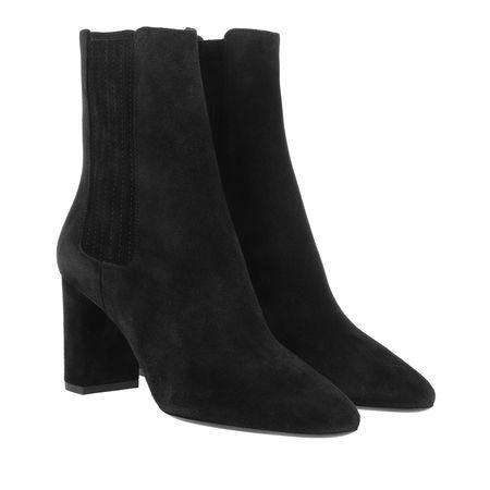 Saint Laurent Paris Saint Laurent Boots & Stiefeletten - Lou Chelsea Boots Suede - in black - für Damen schwarz