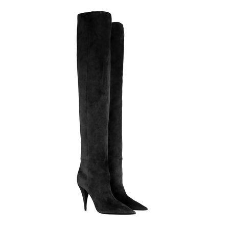 Saint Laurent Paris Saint Laurent Boots  -  Kiki Boots Suede Black  - in schwarz  -  Boots für Damen schwarz