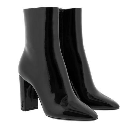 Saint Laurent Paris Saint Laurent Boots  -  Lou Booties 95 Leather Black  - in schwarz  -  Boots für Damen schwarz