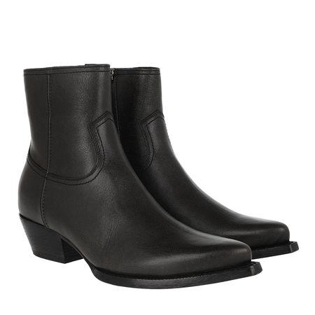 Saint Laurent Paris Saint Laurent Boots  -  Lukas Boots Leather Men Charcoal  - in gunmetal  -  Boots für Damen schwarz