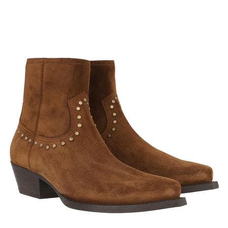 Saint Laurent Paris Saint Laurent Boots  -  Lukas Studded Boots Leather Land  - in braun  -  Boots für Damen braun
