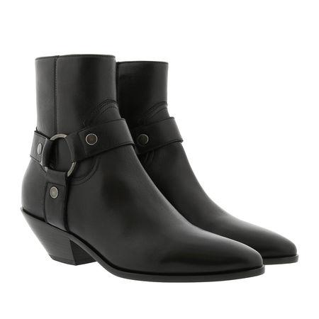 Saint Laurent Paris Saint Laurent Boots  -  West Harness Bootie Leather Black  - in schwarz  -  Boots für Damen grau