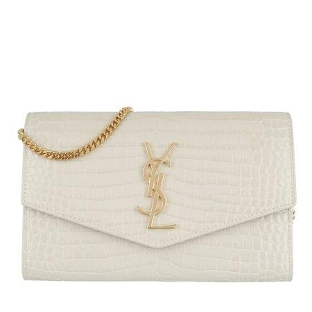 Saint Laurent Paris Saint Laurent Crossbody Bags - Uptown Chain Wallet Croco - in beige - für Damen