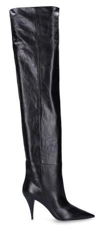 Saint Laurent Paris Saint Laurent Overknees KIKI 85 Kalbsleder  schwarz schwarz