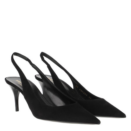Saint Laurent Paris Saint Laurent Pumps  -  Lexi Slingpumps Leather Black  - in schwarz  -  Pumps für Damen schwarz