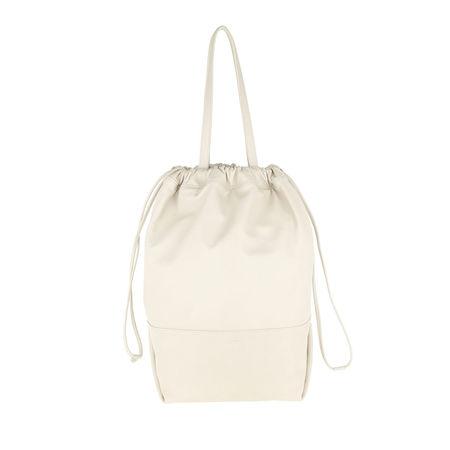 Saint Laurent Paris Saint Laurent Shopper  -  Harlem Shopping Bag Lambskin Crema  - in weiß  -  Shopper für Damen braun