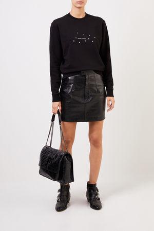 Saint Laurent Paris Saint Laurent - Sweatshirt mit Logo-Aufdruck Schwarz 100% Baumwolle Made in France