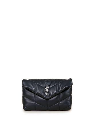 Saint Laurent Paris Saint Laurent - Umhängetasche 'Mini Bag Puffy' Dunkelgrün