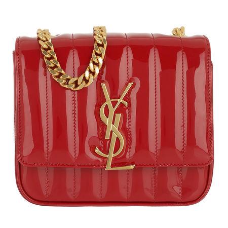 Saint Laurent Paris Saint Laurent Umhängetasche  -  Vicky Shoulder Bag Leather Red  - in rot  -  Umhängetasche für Damen rot