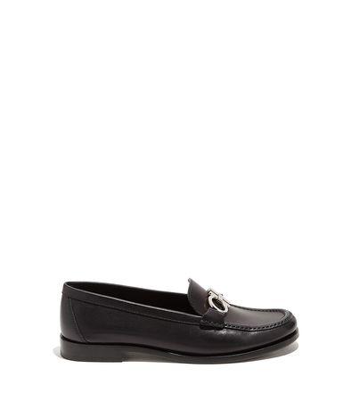 Salvatore Ferragamo  Damen Gancini-Loafer Schwarz Größe 34.5 schwarz
