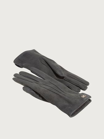 Salvatore Ferragamo  Damen Handschuhe mit Gancini-Detail Grau