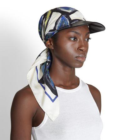 Salvatore Ferragamo  Damen Hat with silk insert Blau grau