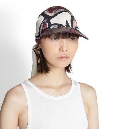 Salvatore Ferragamo  Damen Hat with silk insert Violett weiss