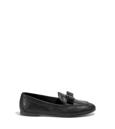 Salvatore Ferragamo  Damen Mokassin mit Vara-Schleife Schwarz Größe 34.5 schwarz