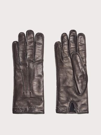 Salvatore Ferragamo  Damen Nappa leather gloves Schwarz