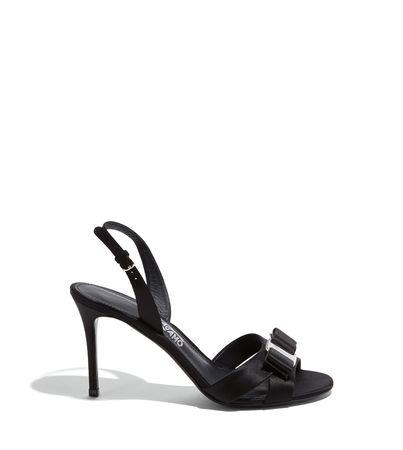 Salvatore Ferragamo  Damen Sandalette mit Vara-Schleife Schwarz Größe 35.5 schwarz