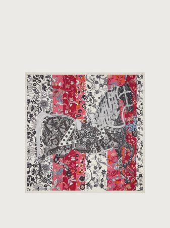 Salvatore Ferragamo  Damen Schal mit Prinz von Persien-Printmotiv Grau grau