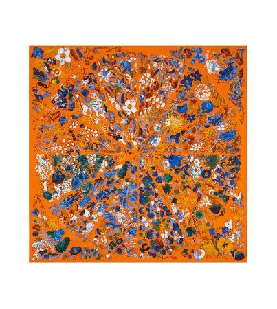 Salvatore Ferragamo  Damen Seidentuch Printmotiv Monate Orange orange