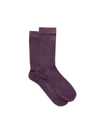 Salvatore Ferragamo  Damen Socken mit Ferragamo-Namenszug Violett braun