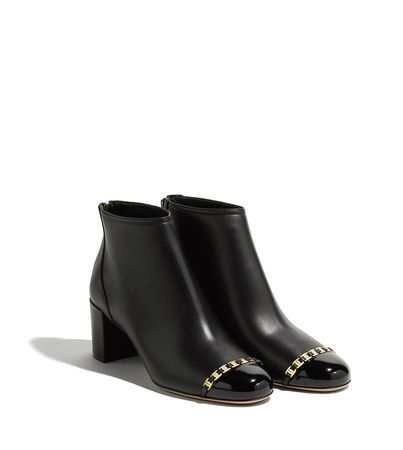 Salvatore Ferragamo  Damen Stiefeletten mit Vara Schleifen-Detail Schwarz Größe 34.5 schwarz