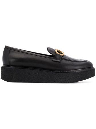 Salvatore Ferragamo  Plateau-Loafer mit Schnalle - Schwarz schwarz