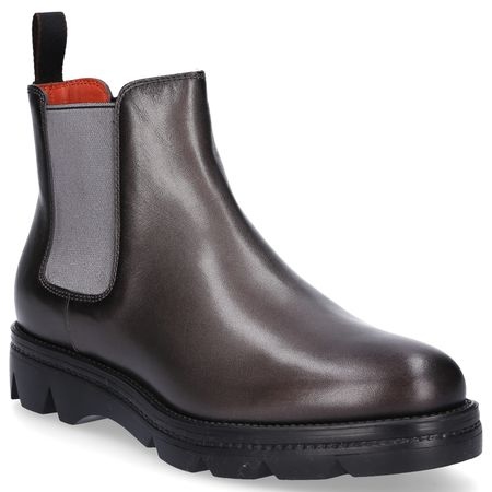 Santoni  Chelsea Boots MG68 Glattleder grau grau