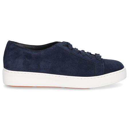 Santoni Sneaker low 60442 Veloursleder blau