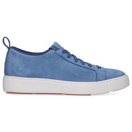 Santoni  Sneaker low 60501 Veloursleder hellblau grau